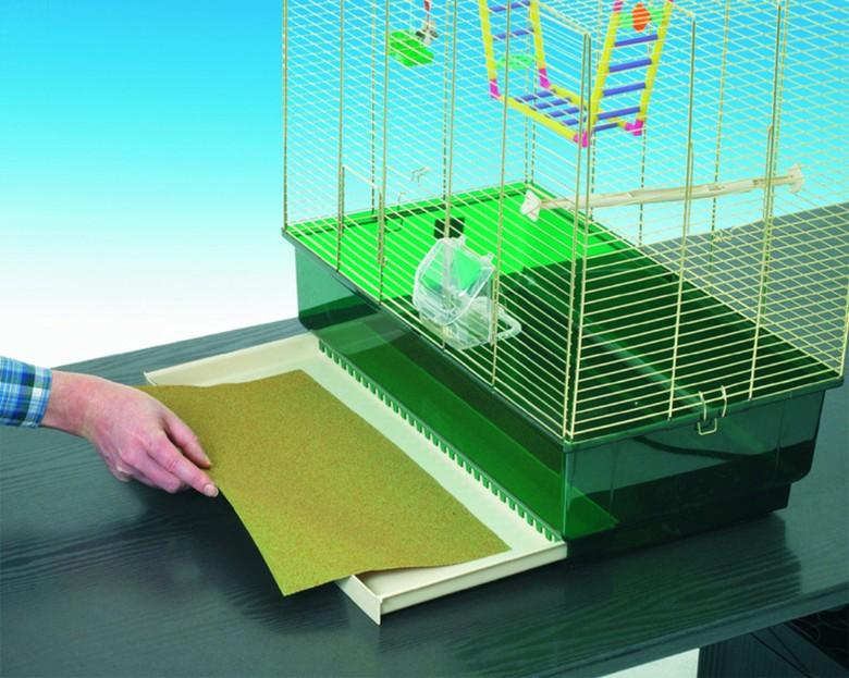подстилка на дно клетки попугая